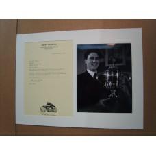 Geoff Duke - Signed Letter.