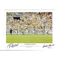 Pele and Gordon Banks