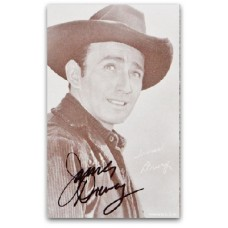 James Drury - signed postcard