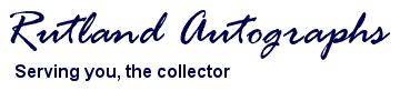 Rutland Autographs